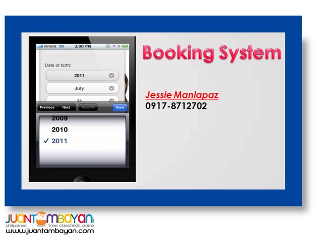 DO YOU WANT A BOOKING SYSTEM?