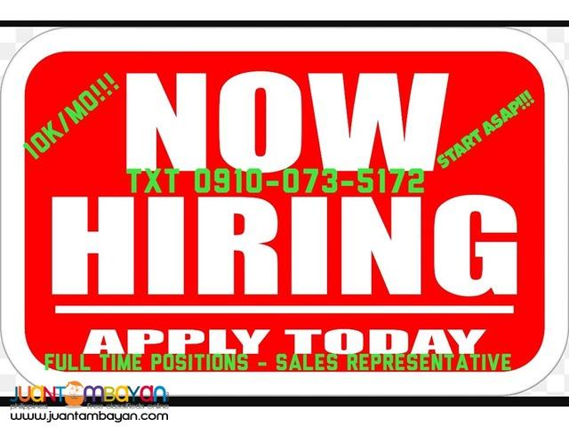 Immediate Hiring! Start Asap, Earn Unlimited!!!