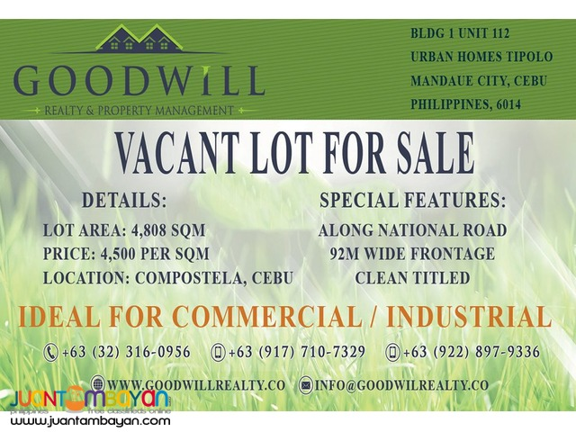 COMPOSTELA LOT FOR INDUSTRIAL OR COMMERCIAL