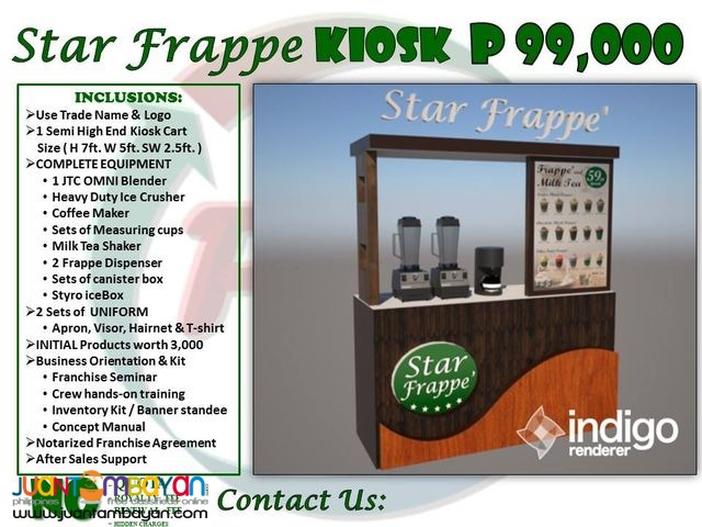 frappe food cart franchise 99K only