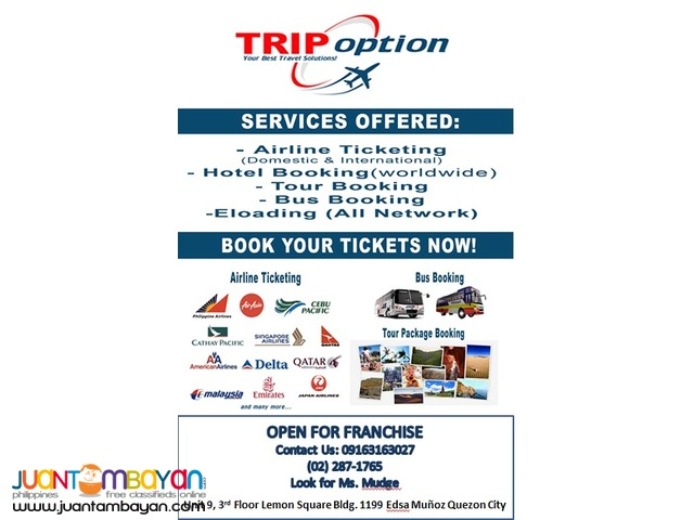 Affordable Ticketing Business with TRIP OPTION