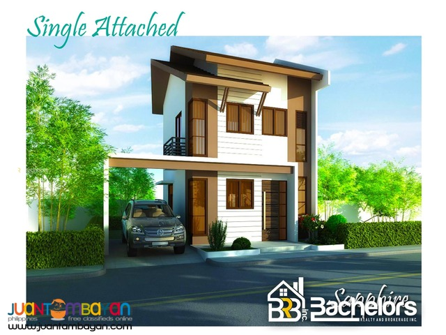 2 storey Single Attached House for sale as low as P20,370 mo amort