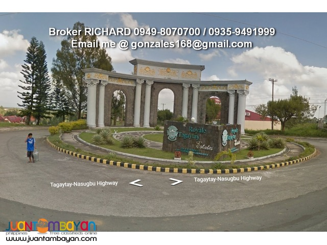 BANK FORECLOSED Lots @ TAGAYTAY ROYALE ESTATES = only 6,000/sqm