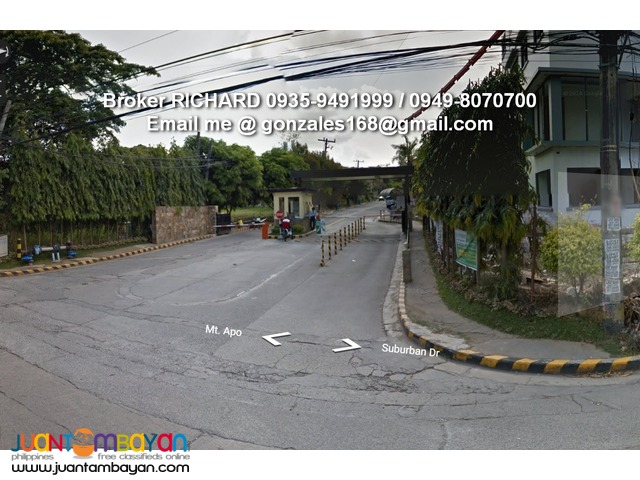 BANK FORECLOSED Lot @ RIDGEMONT EXEC VILL Taytay Phase 3 = 6,000/sqm
