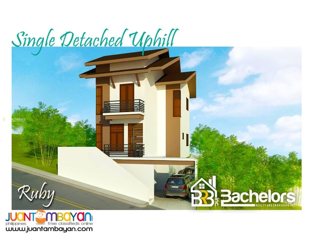 Single Detached Uphill House for sale as low as P38,065 mo amo
