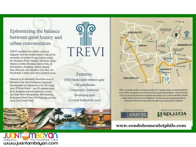 Trevi Lots for sale along J.P Rizal St. Concepcion 1, Marikina City