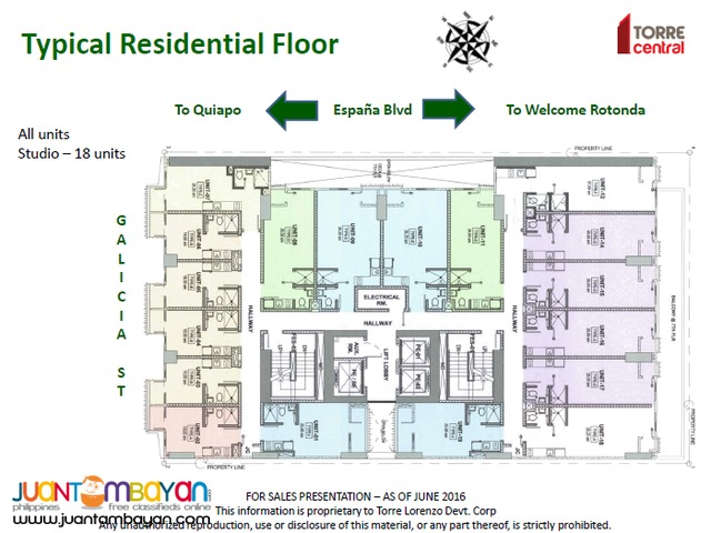 STUDIO TYPE UNIT IN TORRE CENTRAL NEAR UST AND UNIVERSITY BELT