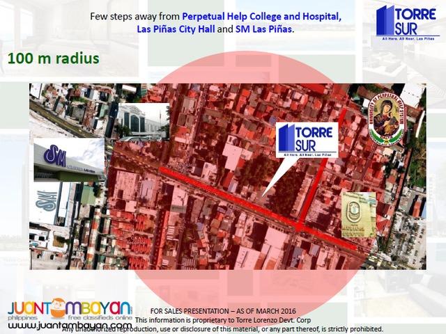 STUDIO TYPE UNIT IN TORRE SUR NEAR PERPETUAL HELP LAS PINAS