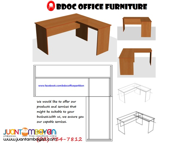 L-shape Table ( Custom Made ) Office PARTiTiON