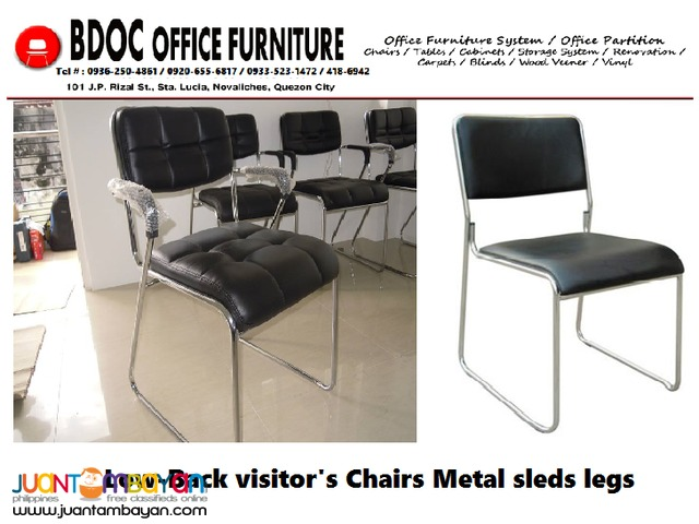 Visitor Chairs +[ Metal Legs ]+ Office Partition