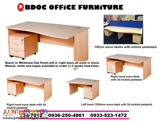 Rectangle Office Desk + Office Partition +