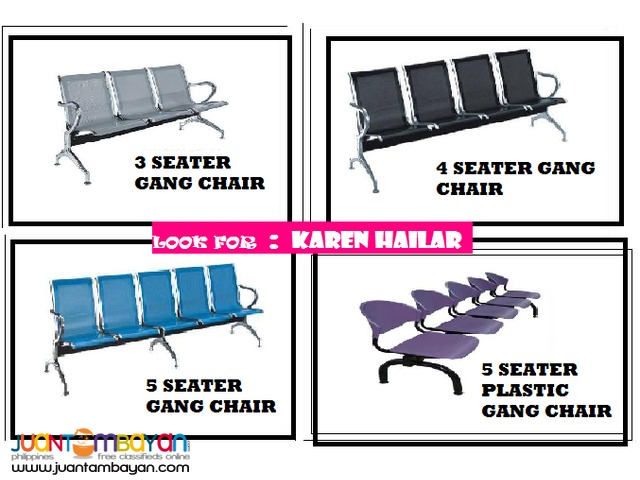 3 , 4 , 5 Seater [ Gang Chairs ]Office Partition