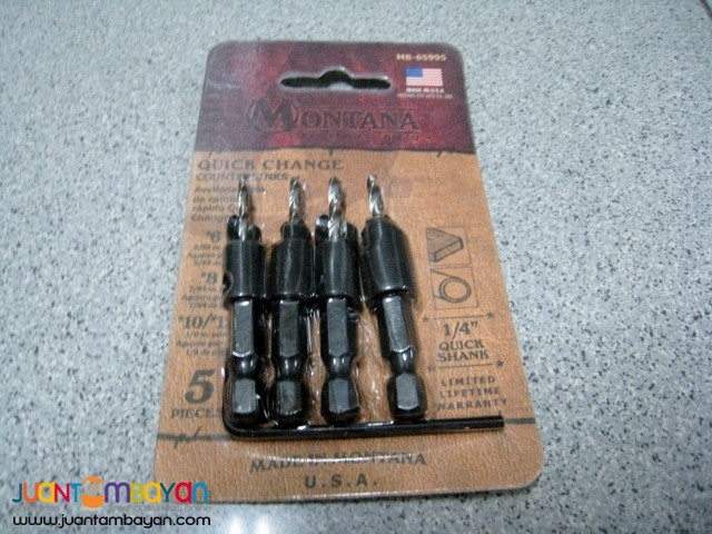 Montana MB-65995 5-piece Quick Change Countersink Set