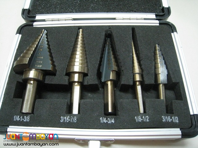 Stark 5 pcs English Step Drill Bits Set