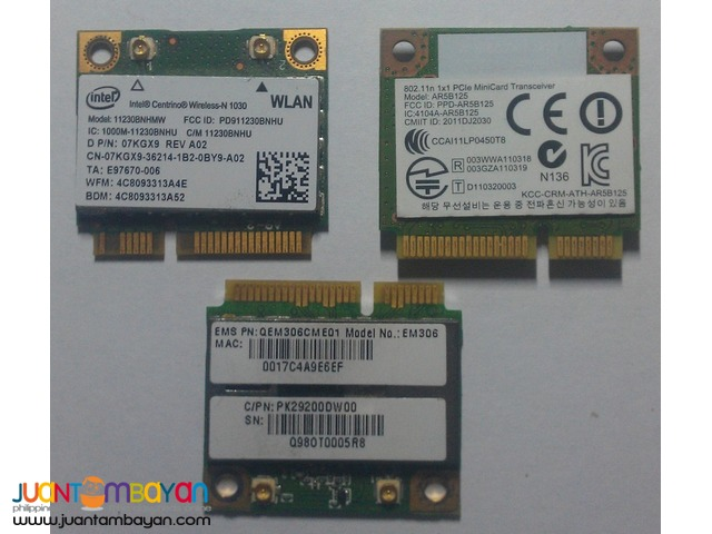802.11n Half Mini PCI-e WiFi Cards for Laptop/Netbook