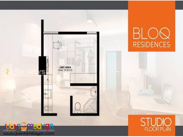 Condo Studio type for sale as low as P8,144k mo amort in Cebu City