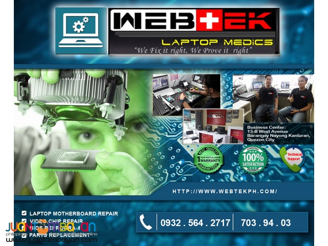 LAPTOP VIDEO CHIP SPECIALIST, REPAIR and REPLACEMENT