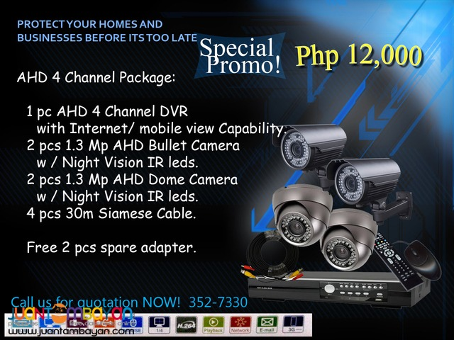 CCTV AHD 4Channel Package