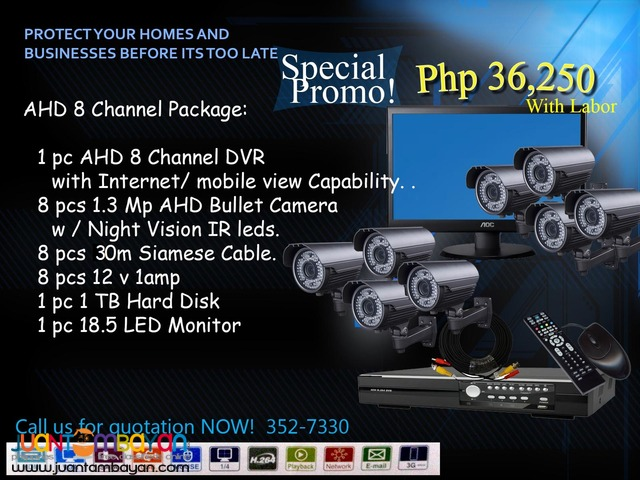 CCTV AHD 8Channel Package