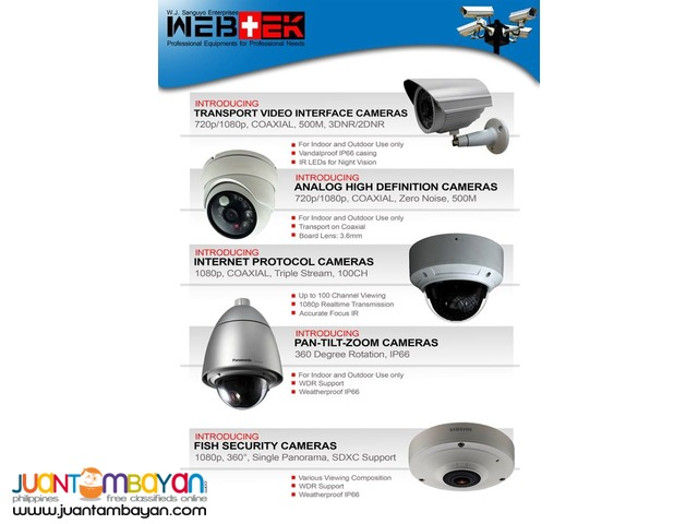 CCTV AVTECH 8CHANNEL 1080P AHD DVR, 2MP AHD CAMERA