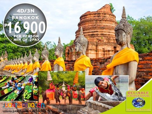 4D3N Bangkok Tour Package + Airfare