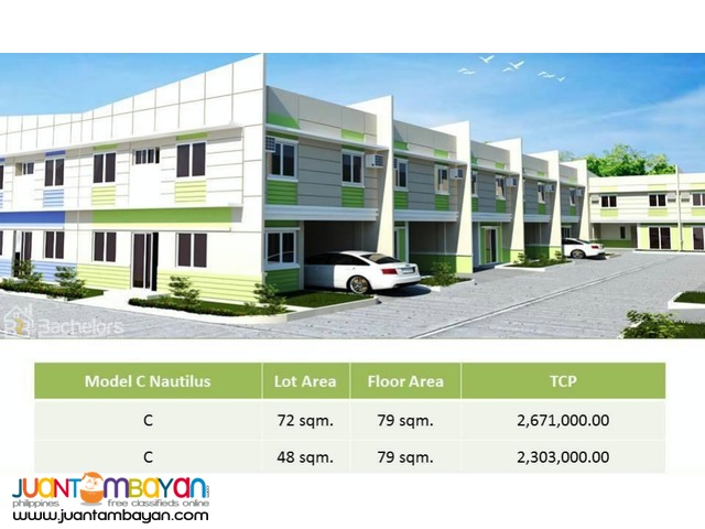 Townhouse 2-Storey as low as P14,064k monthly amort in Lapu2x