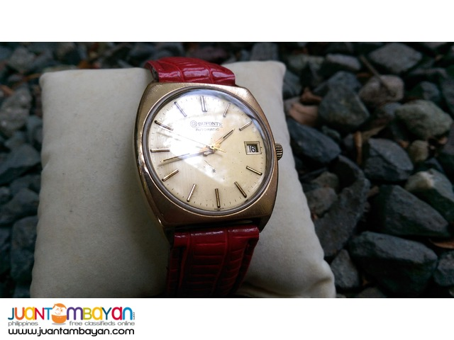 Classic 1977 Dufonte by Lucien Piccard Automatic Watch UPdated