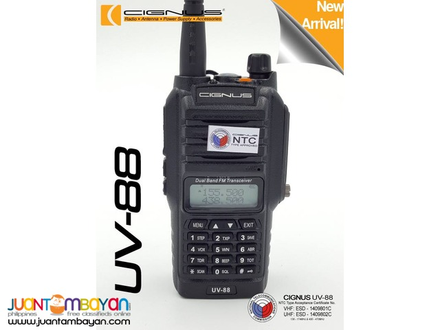 CIGNUS Radio UV-88 Dual-band Water Resistant