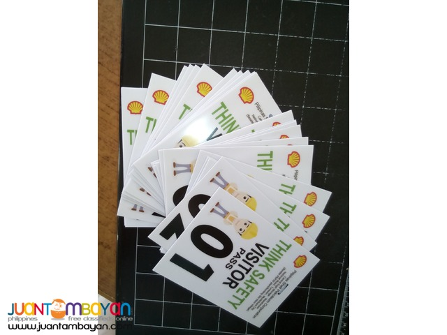 Printing Bag Tags ID's and Visitors Pass