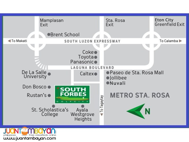 Commercial Lot in Southforbes Golf City Sta Rosa Laguna