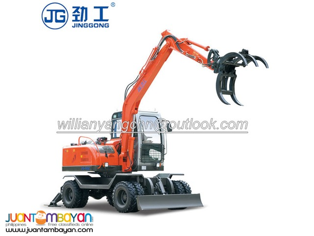 Log grapple wheel excavator for sale with best price!