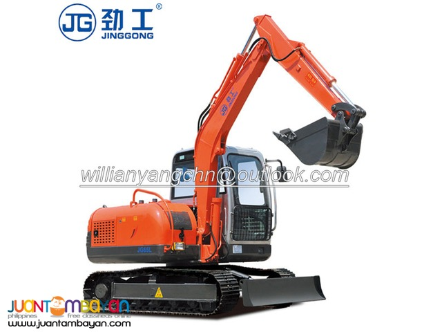 6 tons crawler excavator JG65L with 50kw powerful engine for sale!