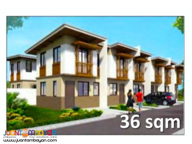 TownHouse 2storey as low as P6,971k monthly amort in Naga Cebu