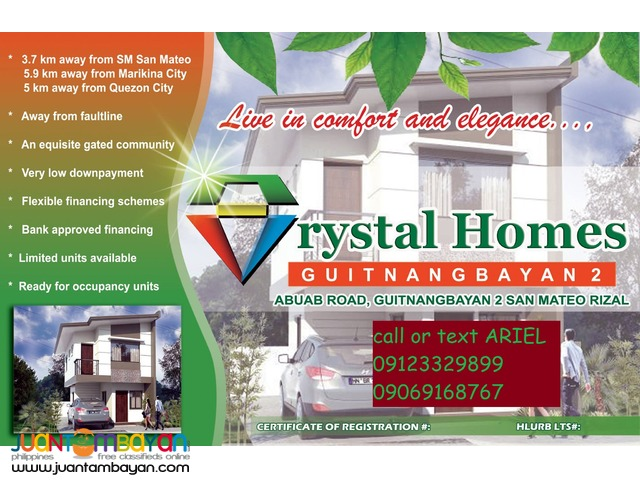 Low DP Flood Safe Townhouses at CRYSTAL HOMES SAN mATEO