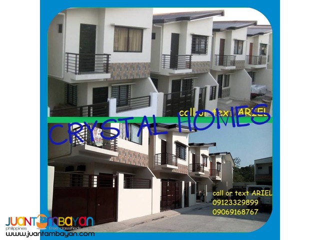 Residential Low DP Townhouses at Crystal Homes Near QC & Marikina