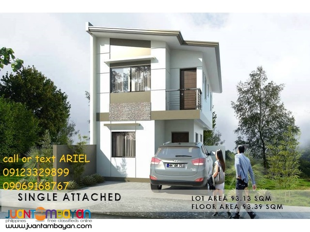 Single Attached House & Lot at Crystal homes Low DP Flood Safe