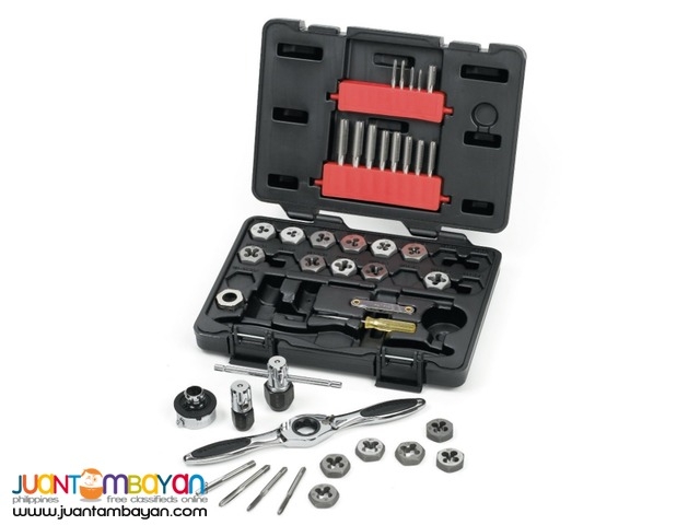 GearWrench 3886 Metric Tap and Die 40 Piece Set
