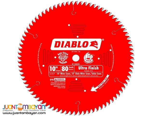 Freud D1080X Diablo 10-inch by 80-tooth ATB Finish Saw Blade