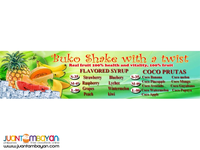 franchise foodcart business buko shake buko juice
