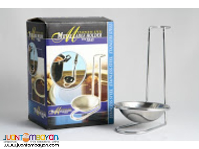 Metal Ladle Holder with Tray