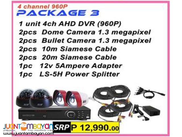 Korean CCTV 4Channel AHD 960P Package