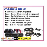 Korean CCTV 4Channel AHD 960P Package