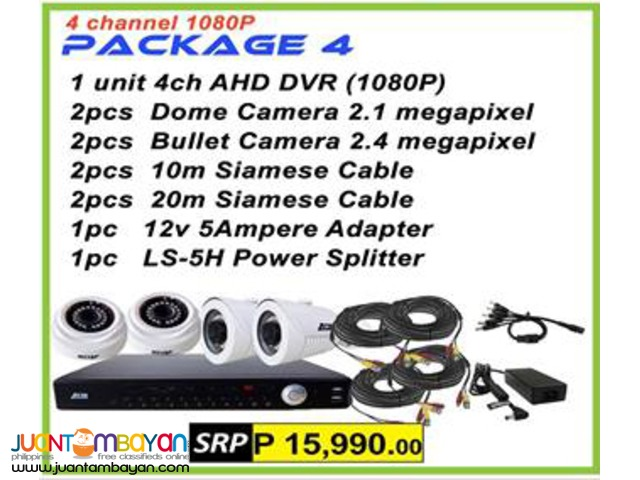 Korean CCTV 4Channel AHD 1080P Package