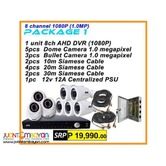 Korean CCTV 8Channel AHD 720P Package
