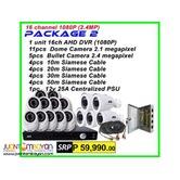 CCTV 16Channel AHD 1080P Packages