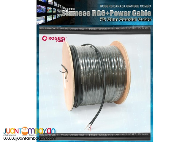 Rogers CCTV HQ Coaxial Siamese RG6U+Power Cable 305Mtrs