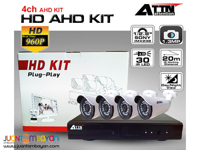 Korea CCTV 4CH AHD 960P DVR KIT
