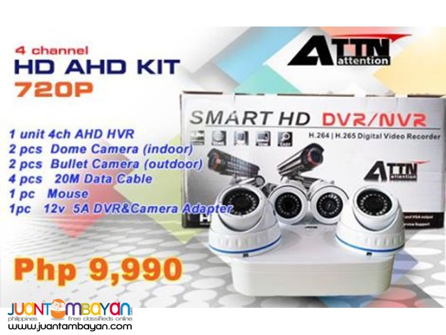 Korea CCTV AHD 4Channel 720P Kit