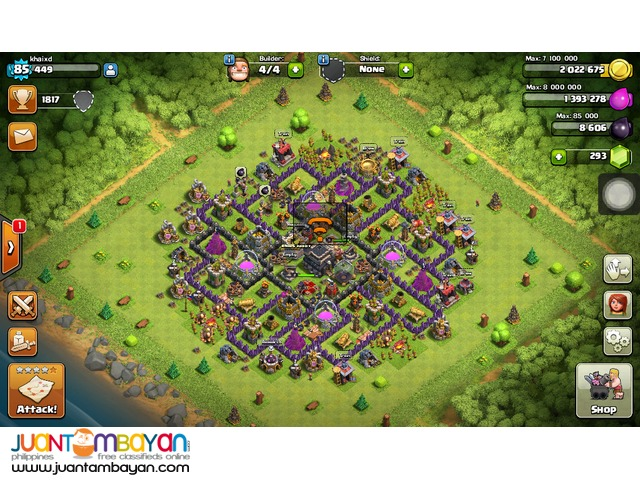 Clash of CLan th9 lvl 85