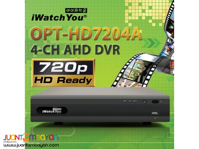 Korea CCTV AHD Video Recorder iWatchYou OPT-HD7204A 4-Channel